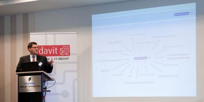 Cybersecurity – Die datenschutz nord auf dem 3. Deutschen IT-Rechtstag