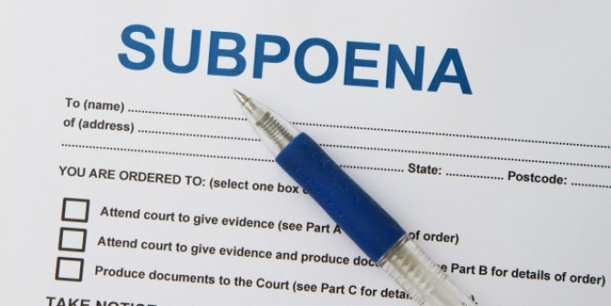 Subpoena – Müssen europäische Unternehmen E-Mails an US-Behörden herausgeben?
