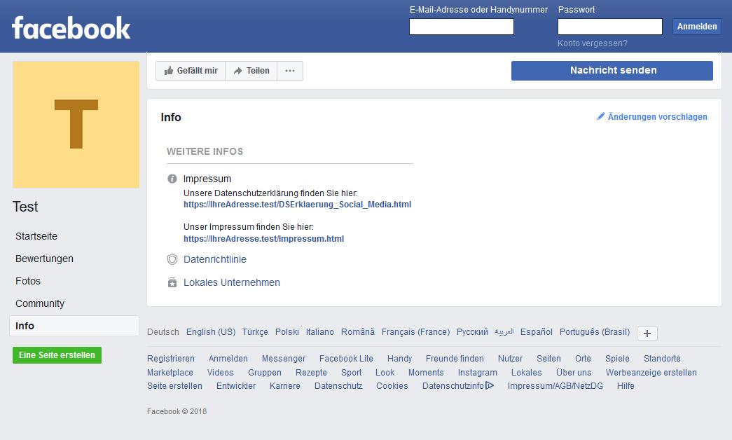 Facebook Datenschutzerklärung