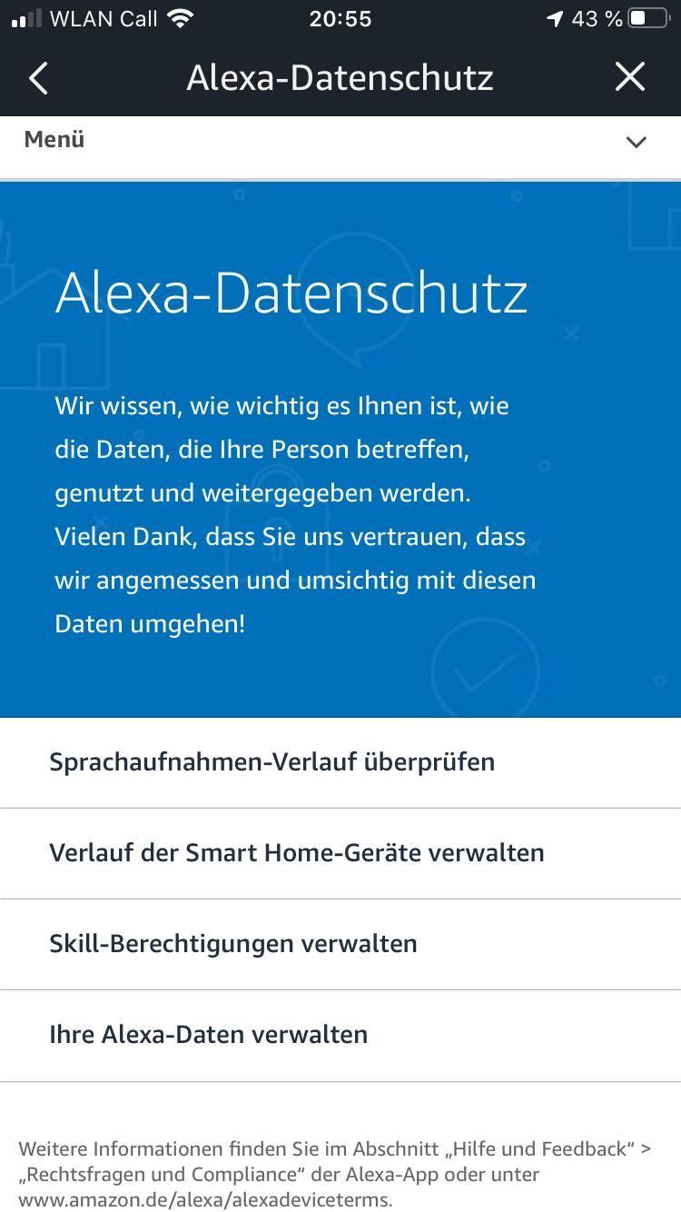 Alexa Daten Löschen