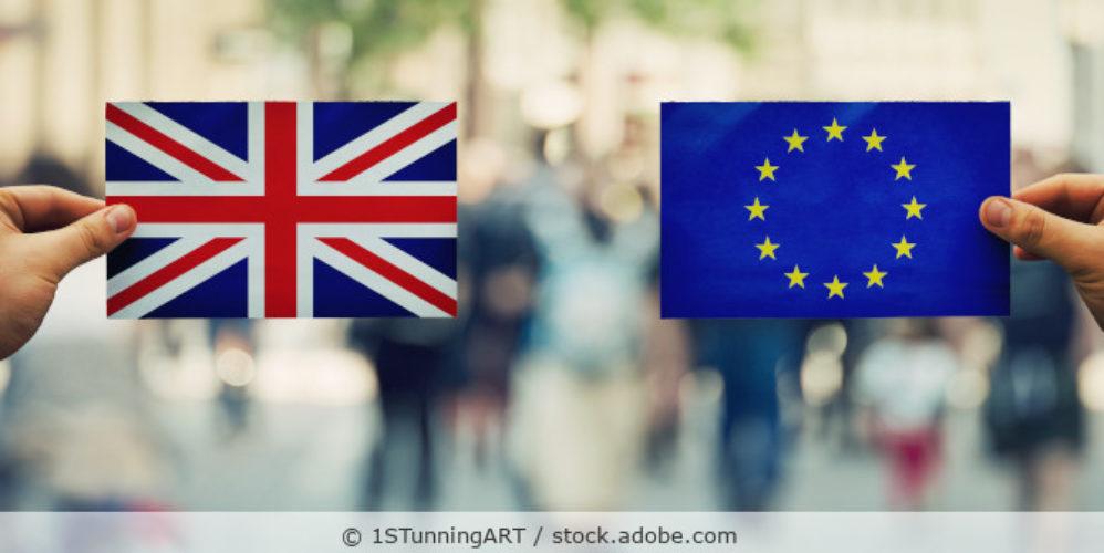 Flagge UK und EU