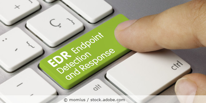 Computertastatur mit grüner Taste EDR Endpoint Detection and Response